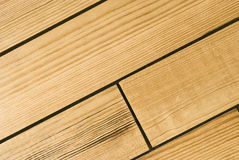 Bright hardwood oak planks background or texture. Extreme close-up of wooden planks stock photo