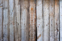 Wooden Planks Background. A close up background of wooden planks nailed together Stock Image