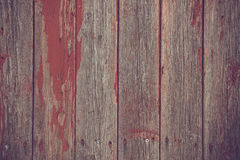 Wooden planks background with red paint Royalty Free Stock Images