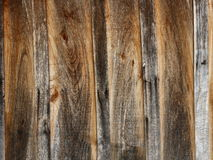 Wooden planks background. Textured rustic wooden dark brown table background Stock Images