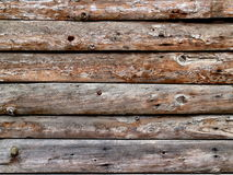 Wooden planks background. Textured rustic wooden dark brown table background Royalty Free Stock Photo