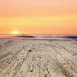 Wooden planks on the beach Stock Images