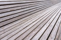 Wooden planks on the bench in park Royalty Free Stock Photography