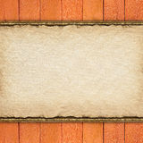 Wooden planks and blank paper sheet Royalty Free Stock Images