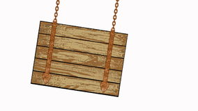 Wooden planks with chains stock video footage