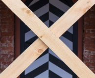 Wooden planks crossed Stock Photos