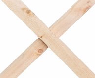 Wooden planks crossed Stock Images