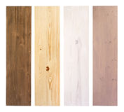 Wooden planks in different colors isolated on white Stock Photography