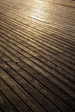 Wooden planks in early morning light Stock Image