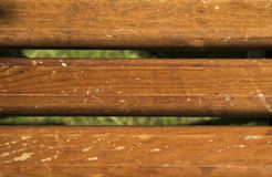 Wooden planks. On green background Stock Photography