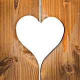 Wooden planks with heart Stock Images