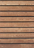Wooden planks. Horizontal wooden slats. Smooth wood texture Stock Photography