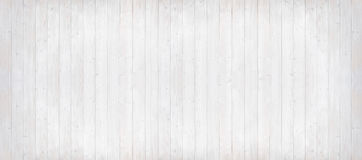 Wooden planks light grey with vertical lines, panorama format Stock Images