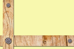 Wooden planks with nails Stock Photos