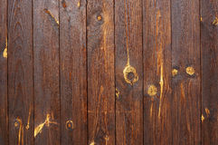 Wooden planks. Natural brown background. Stock Photography