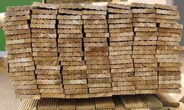 Wooden Planks. Stock Photo