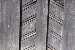 Wooden planks. Old wooden door details in planks Stock Photo