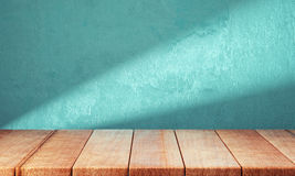 Wooden planks over bright background Stock Images