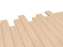 Wooden planks over white background Stock Photos