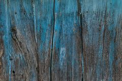 Wooden planks painted blue. Stock Images