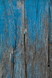 Wooden planks painted blue. Stock Photo