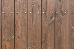 Wooden planks painted brown. Background texture Stock Image