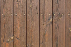 Wooden planks painted brown. Background texture Stock Photos