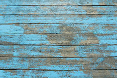Wooden planks with peeling blue paint Royalty Free Stock Photography