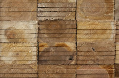Wooden planks side view Royalty Free Stock Photography