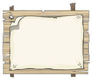 Wooden planks sign Stock Images
