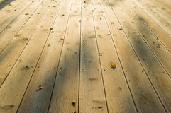 Wooden planks. In Silesian Park Royalty Free Stock Photography
