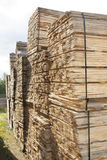 Wooden planks stacked Royalty Free Stock Photo