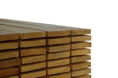 Wooden planks in store  Royalty Free Stock Photography