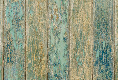 wooden planks texture with cracked color paint for background Stock Images