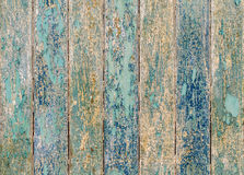 Wooden planks texture with cracked color paint for background Royalty Free Stock Photo