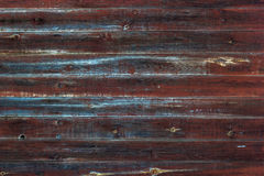 Wooden planks texture. A texture of old painted wooden horizontal planks Stock Photography