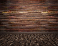 Wooden planks wall and parquet floor background 3d render Stock Image