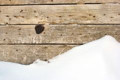 Wooden planks wall with rusty nails and burned stain stock photos