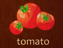 Wooden plaque �tomato� Royalty Free Stock Photo