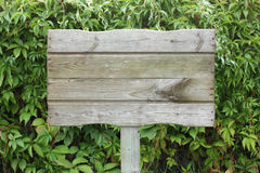 Wooden plaque Stock Images