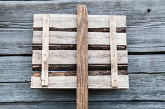 A wooden plaque from boards Stock Images