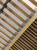 Wooden and plastic lines. Piece of furniture. stock images