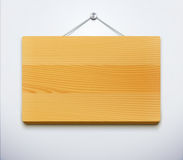 Wooden plate. Vector illustration of classic detailed wooden plate for your own text or image Royalty Free Stock Photos