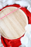 Wooden Plate Background Royalty Free Stock Photo