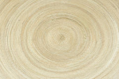 Wooden plate with a circular pattern Stock Photography