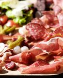 Delicious Cold Cuts Royalty Free Stock Photos