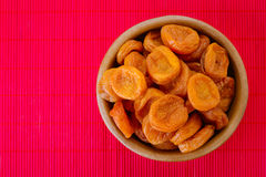 Plate with dried apricots Royalty Free Stock Images