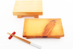 Wooden Plate For Sushi Royalty Free Stock Photo