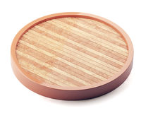 Wooden plate isolated on white background Royalty Free Stock Images