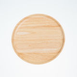 Wooden plate. Wooden isolated on white nobody Royalty Free Stock Photos